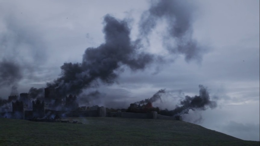 winterfell burning