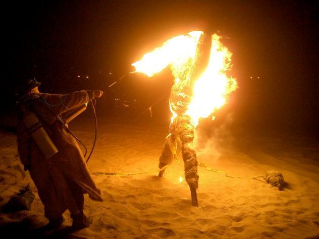 Burning-Scarecrows
